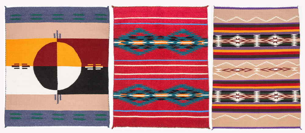 Above: examples of just a few of the designs that will be shown at the rug show.