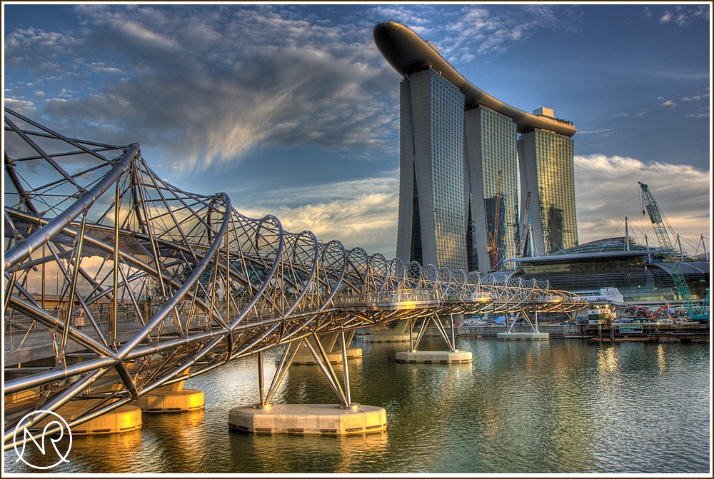 HDR of the Marina Bay Sands Hotel Singapore