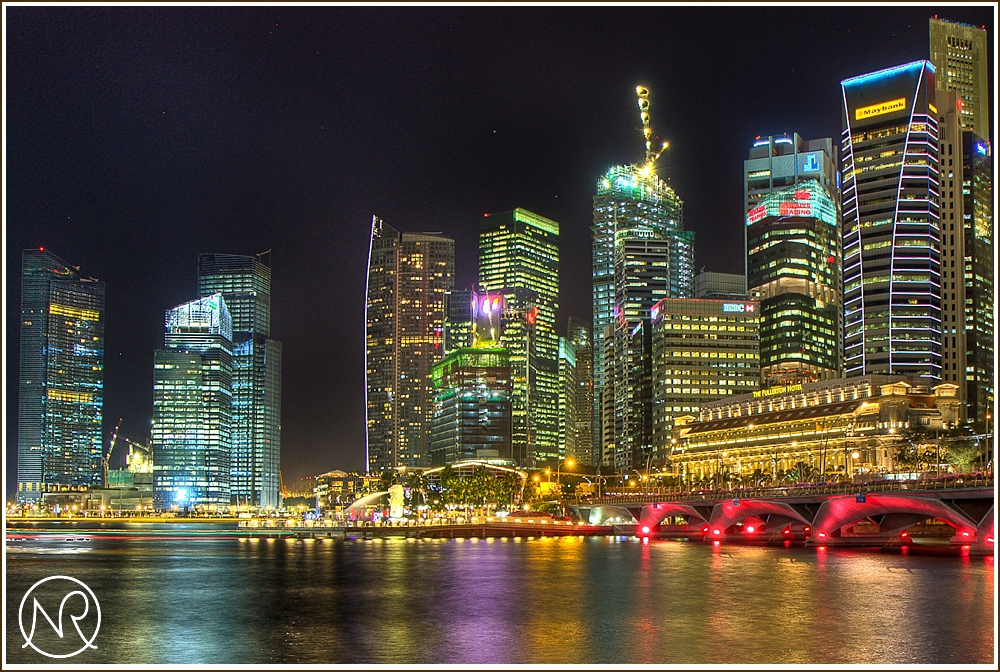 HDR of Marina Bay Singapore at Night