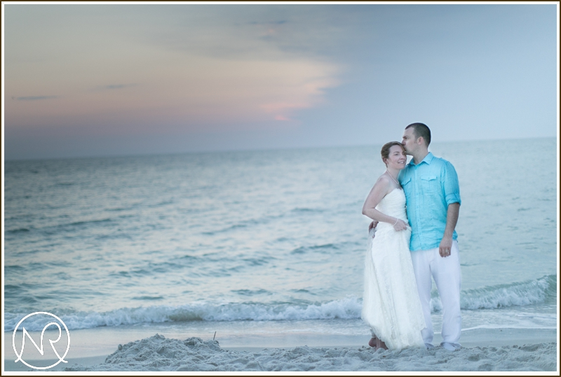 Sunset wedding Naples Beach Hotel