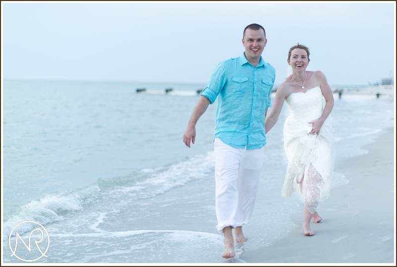 Beach wedding photographer Naples Florida