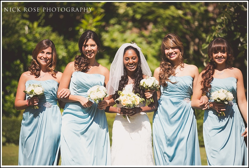 Bride and bridesmaids at Ashdown Park