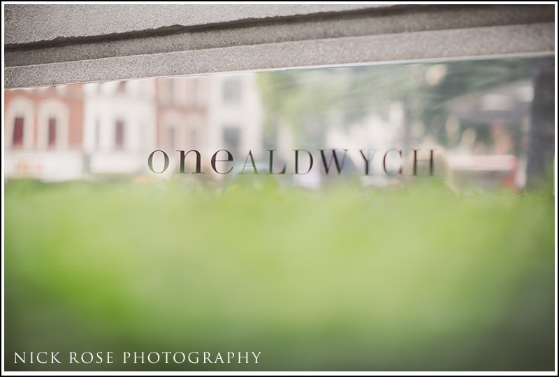One Aldwych Wedding Photography London