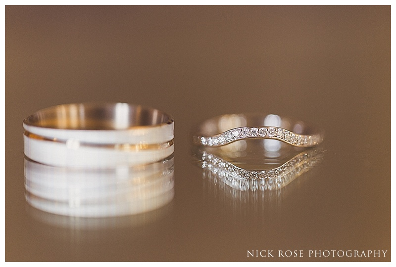 Wedding rings detail photograph
