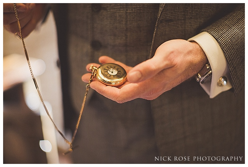 Groom gold pocket watch