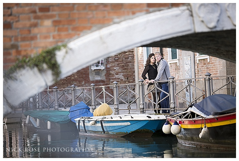 Romantic venice engagement