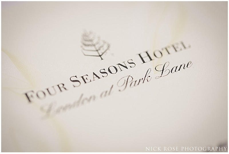 Wedding photography Four Seasons Park Lane