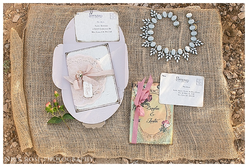 wedding stationary ideas for a Nevada wedding