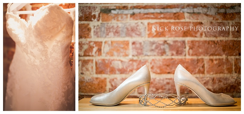 Wedding shoes at Ramster Hall