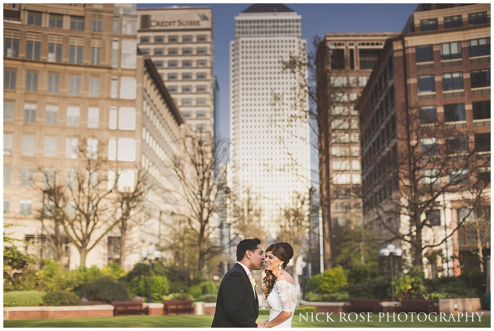 Canary Wharf wedding London