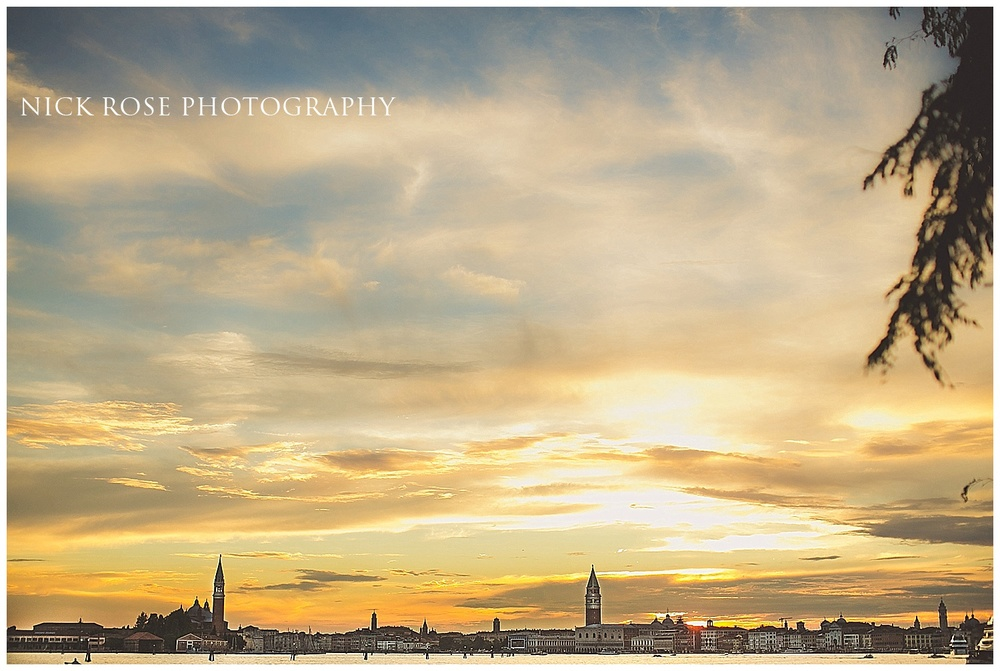 Venice sunset pre wedding photography