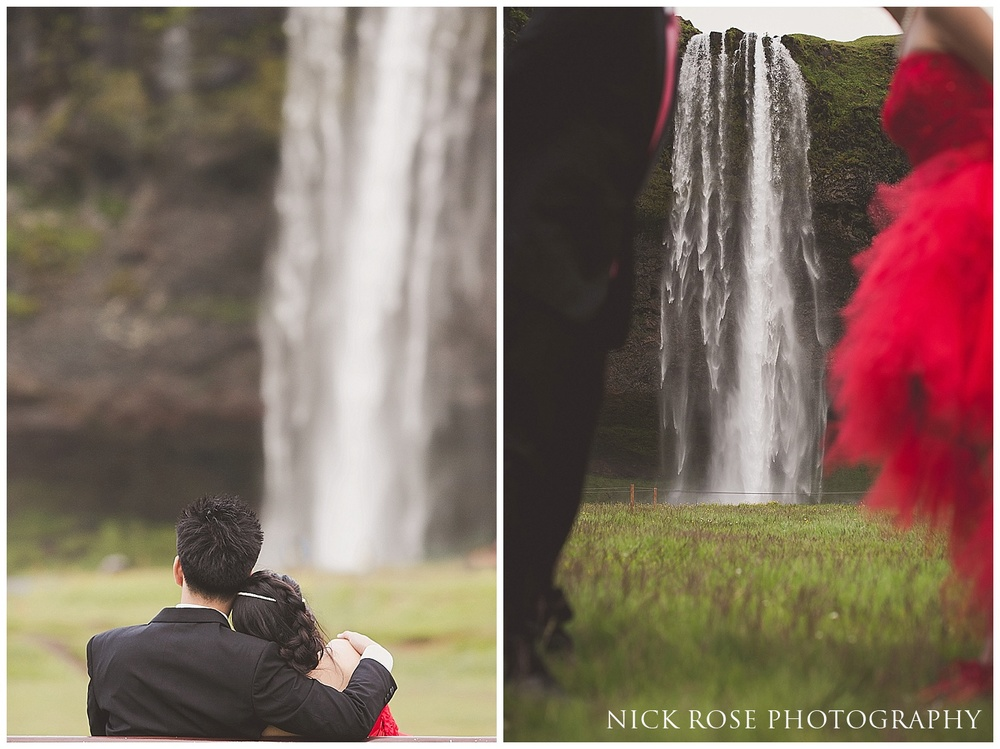 Seljalandsfoss pre wedding photography Iceland