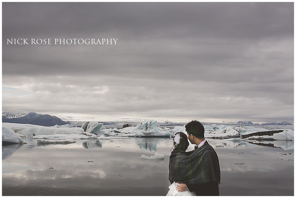 Ice lagoon wedding in Iceland