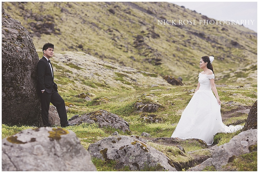 Asian pre wedding photography Iceland