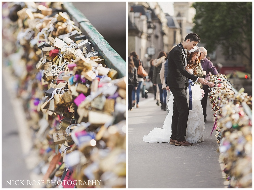 Bridge of locks pre wedding photography