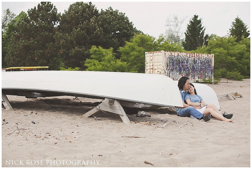 Toronto Island Park engagement photo
