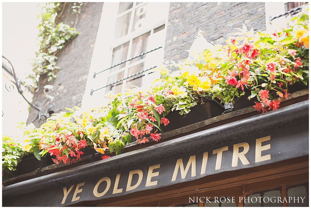 Ye Old Mitre Wedding London