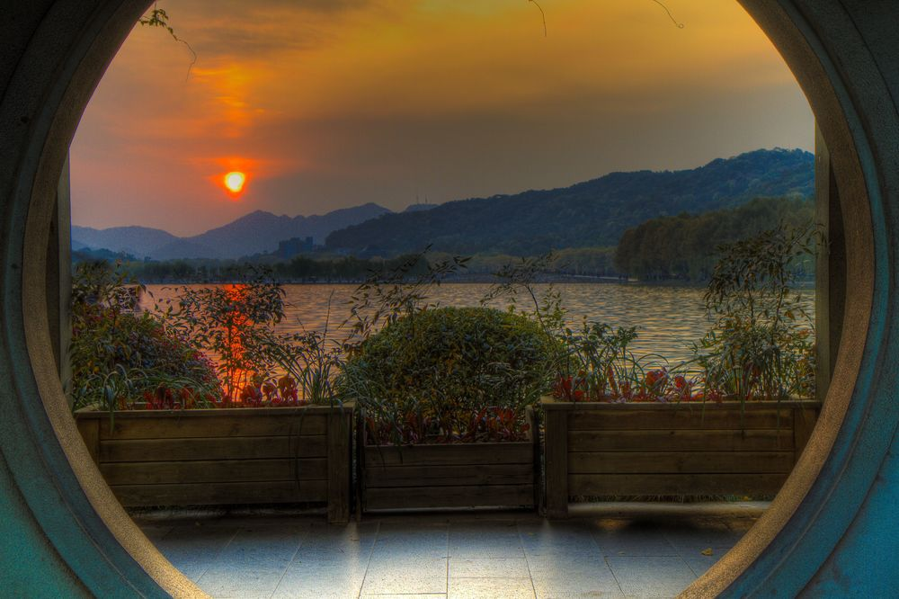 Hangzhou Sunset China