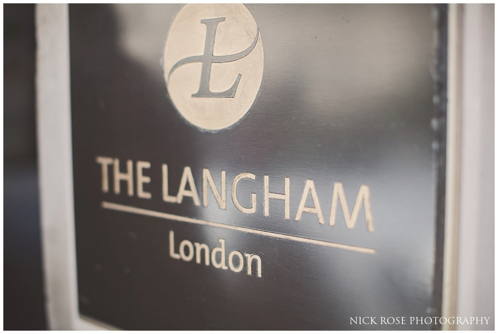 Langham London wedding photographer