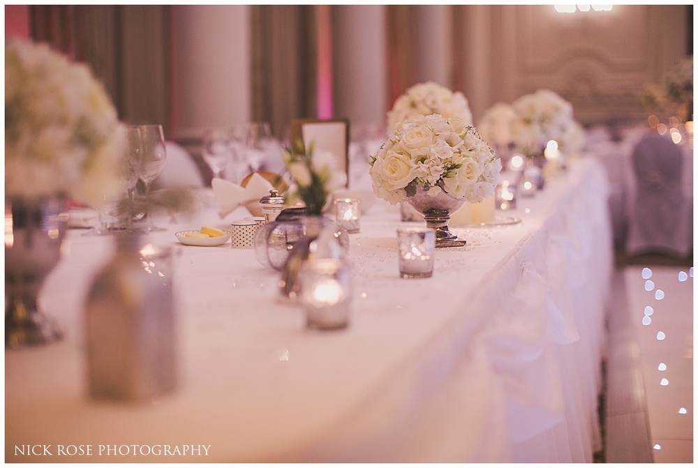 Langham Ballroom Wedding reception