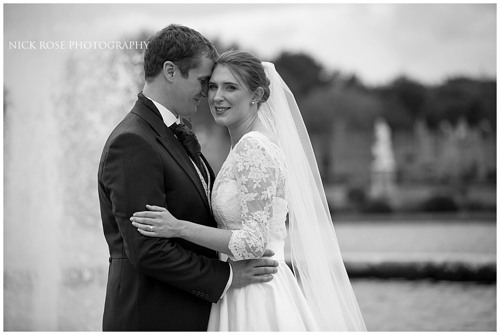 Hampton Court fountain wedding photography