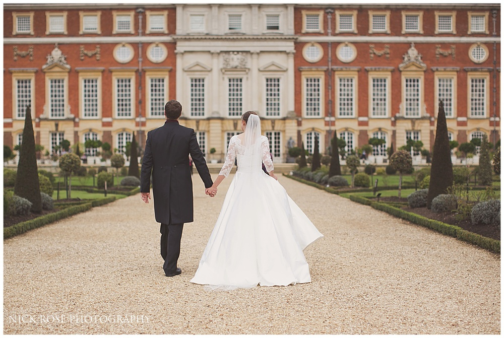 Hampton Court Palace wedding photographer