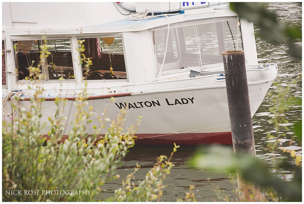 Thames River Wedding Boat