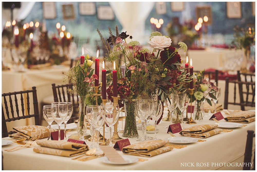 Wedding table design Surrey