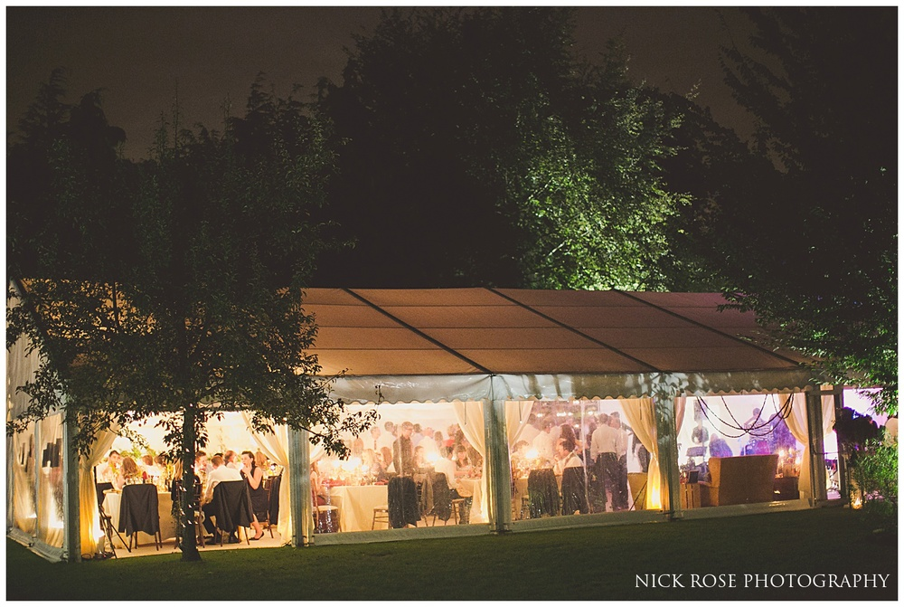 Garden Marquee wedding in Surrey