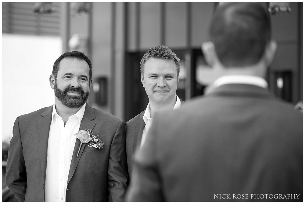 Gay wedding at the Ham Yard Hotel