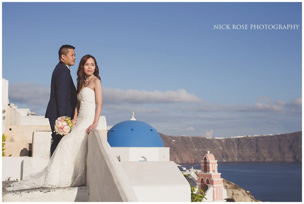 Destination Pre Wedding Photography Santorini Greece