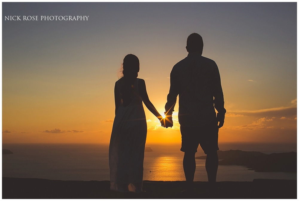 Sunset pre wedding photography Santorini