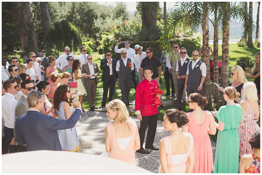 Destination Chinese Wedding in Sorrento Italy
