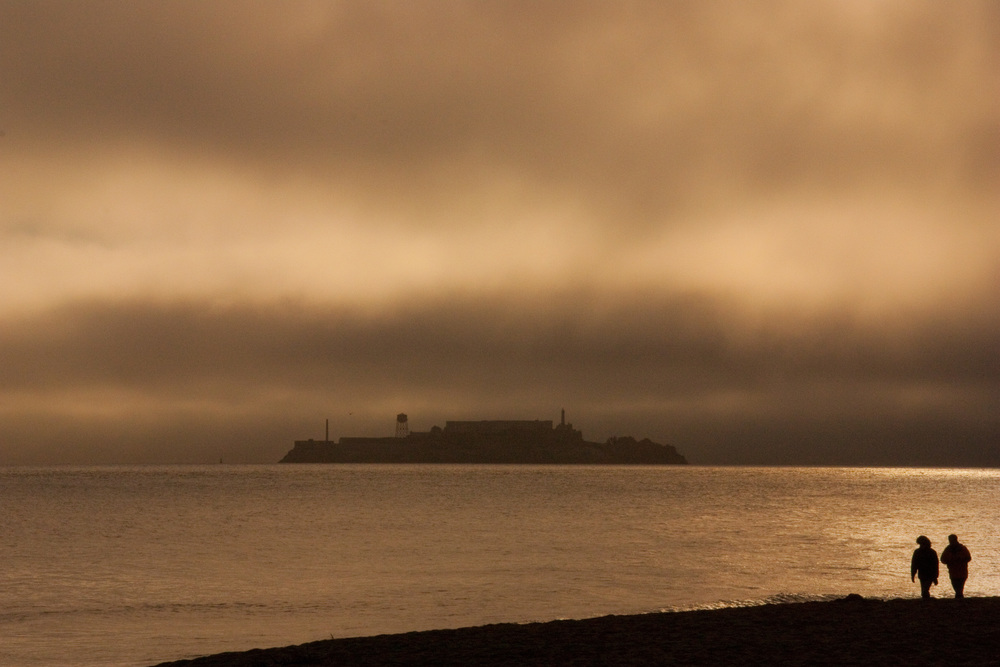 Storm over Alcatraz San Francisco California