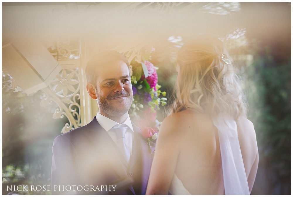 Pennyhill Park outdoor wedding
