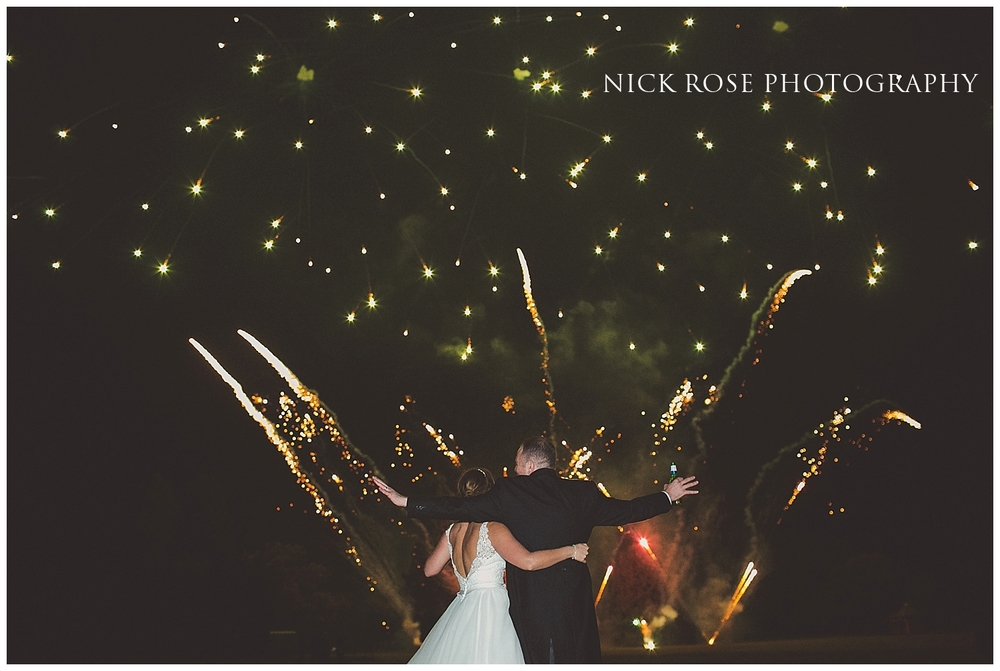 Wedding Fireworks at Hedsor House