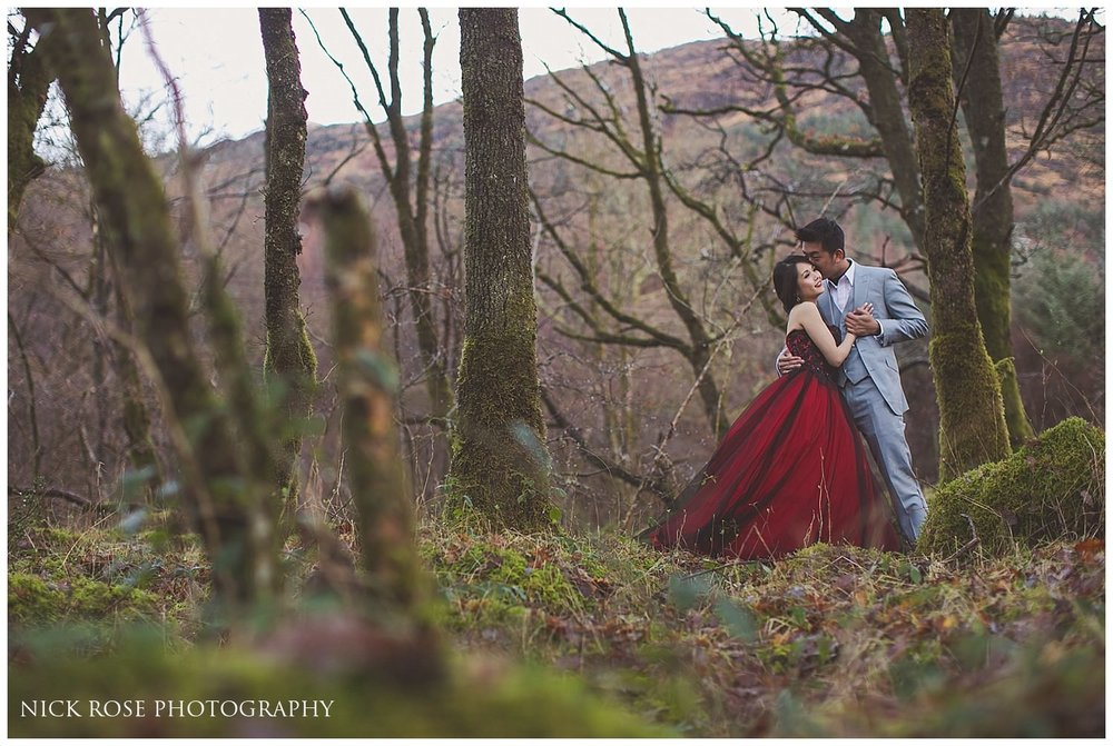 Romantic pre wedding photography Scotland