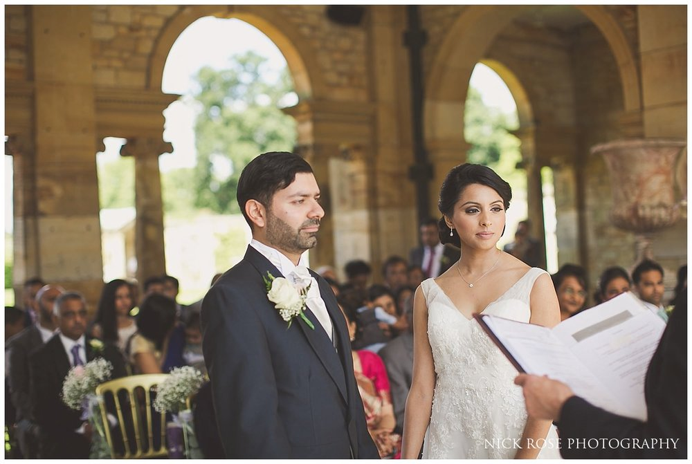 Outdoor garden wedding ceremony at Hever Castle Kent