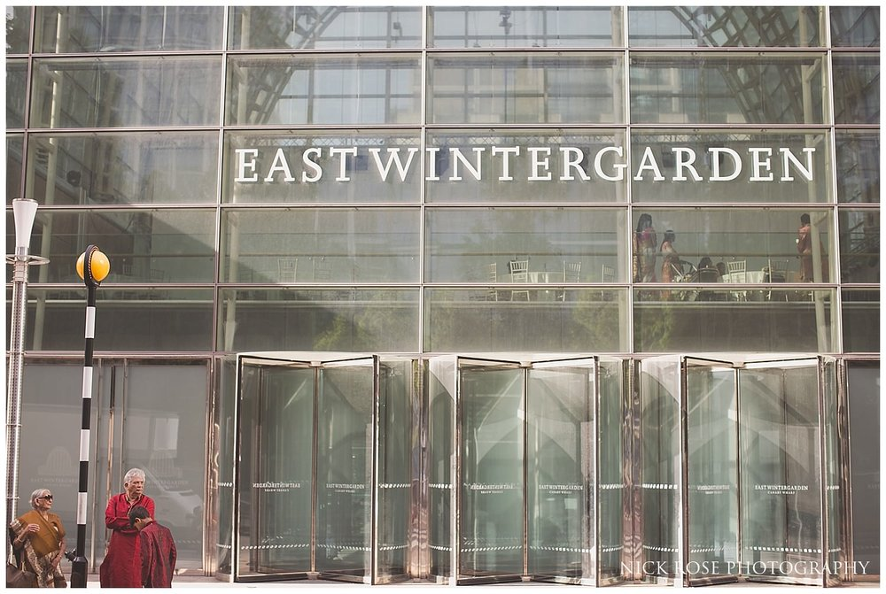Hindu wedding venue East Wintergarden in Canary Wharf London
