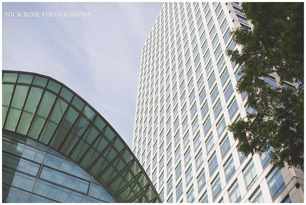 A view of the East Wintergarden in Canary Wharf London