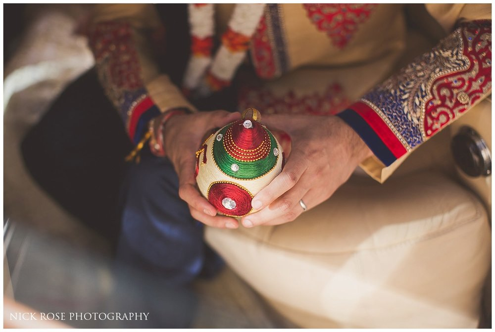 Hindu wedding ritual at Canary Wharf's East Wintergarden