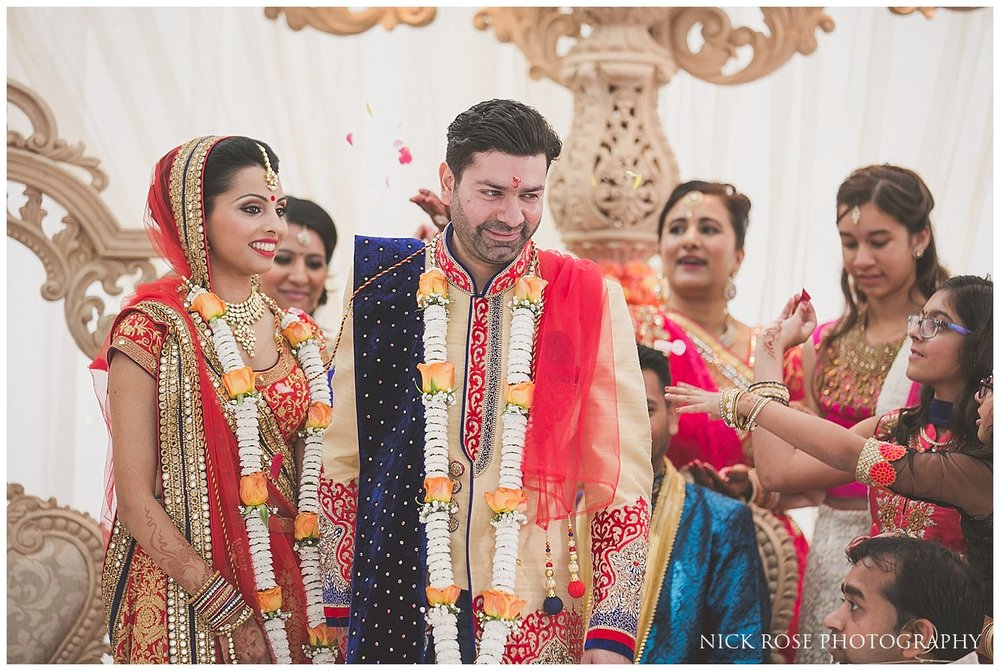 East Wintergarden Hindu wedding ceremony in Canary Wharf London