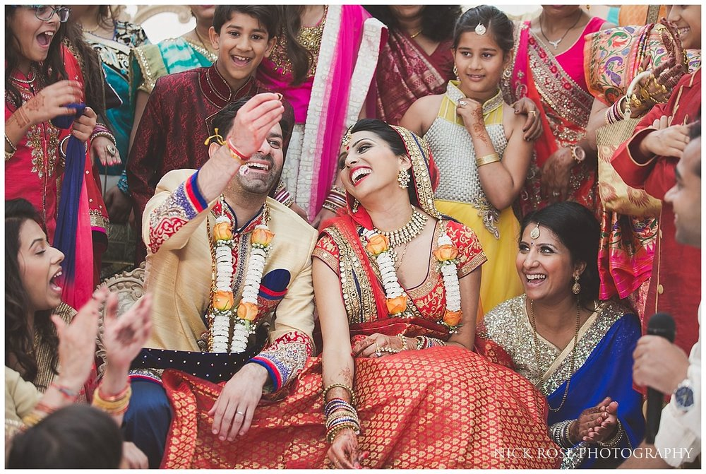 Hindu Koda Kodi ring game after an Indian wedding ceremony at East Wintergarden London
