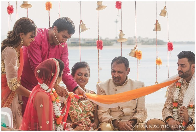 A Hindu wedding ceremony taking place at the Sofitel Palm Dubai