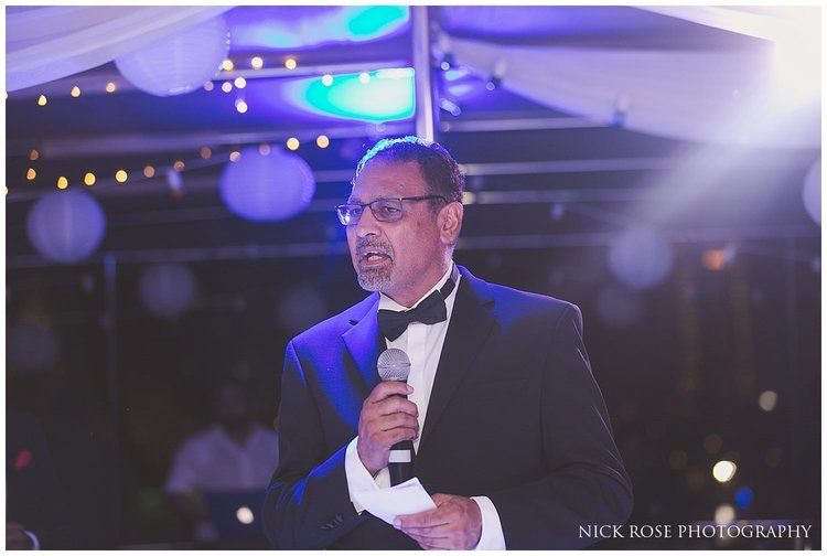 Father of the bride speech during an Asian wedding reception in Dubai