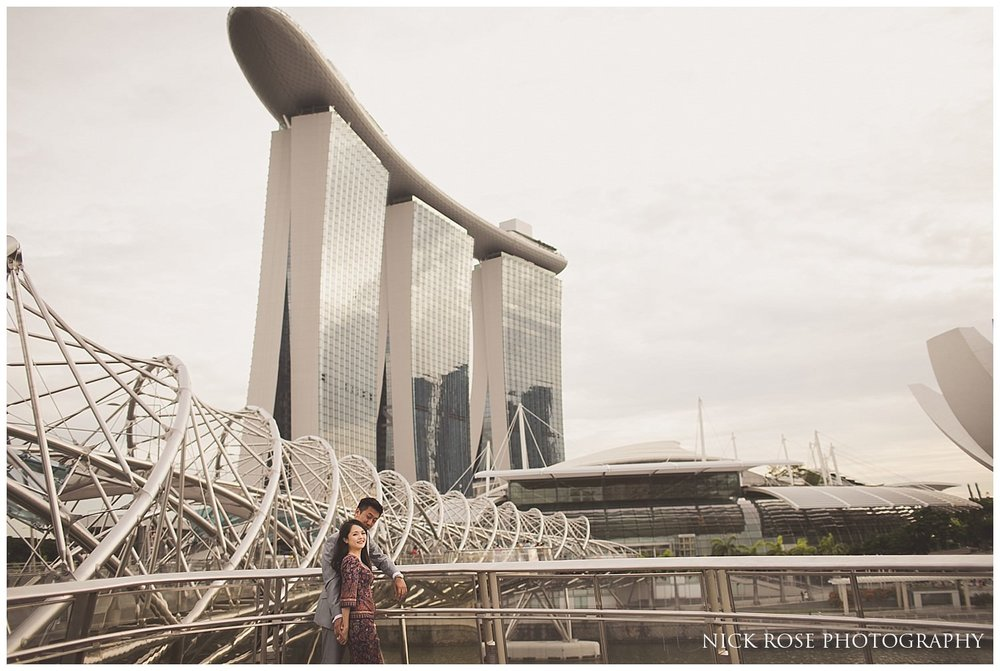 Pre wedding couple photography at the Marina Bay Sands Hotel and Spa in Singapore