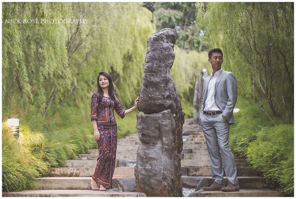Couple pre wedding photography image taken at Gardens by the Bay in Singapore