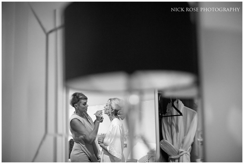 Bride getting ready for a Rudding Park Hotel Wedding in Harrogate
