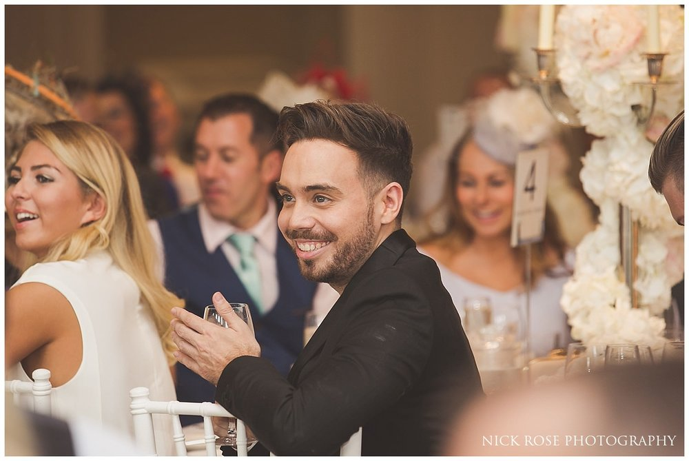 Wedding guests enjoying the Rudding Park Hotel wedding speeches