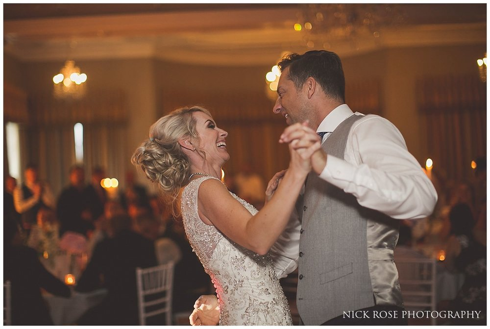 Bride and groom first dance at the Rudding Park Hotel wedding in Harrogate